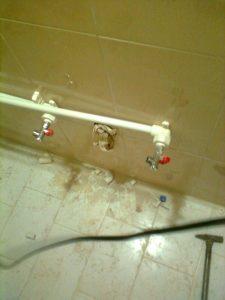 ارتفاع نصب لوله های آبرسانی دست شویی