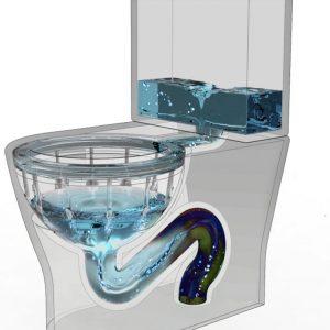 سیستم تخلیه ریزشی مدل آبشار